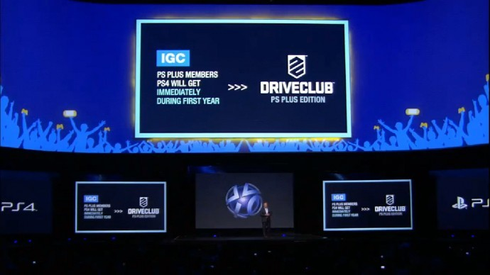 Jack Tretton announcing Driveclub free for PS+