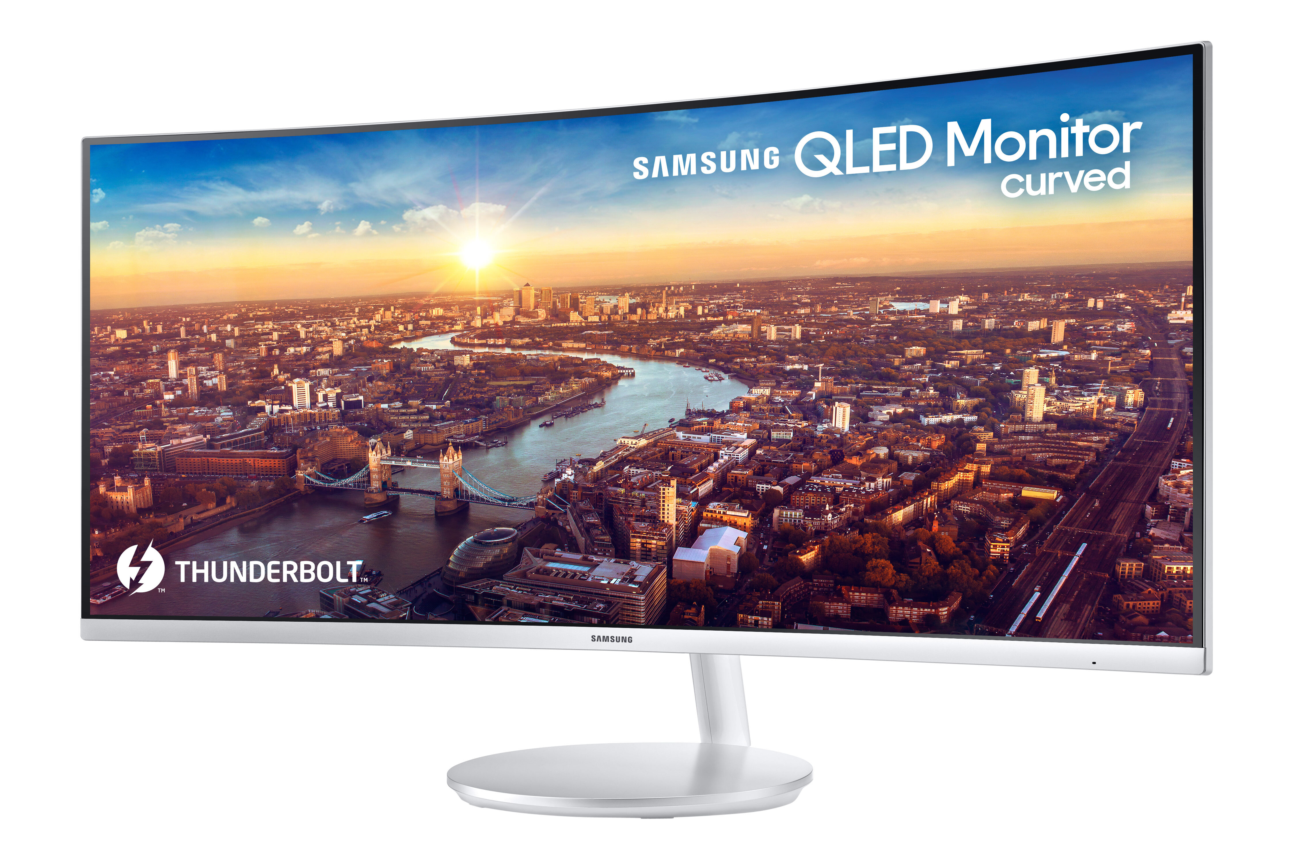 Samsung Unveils First Thunderbolt 3 QLED Curved Monitor at