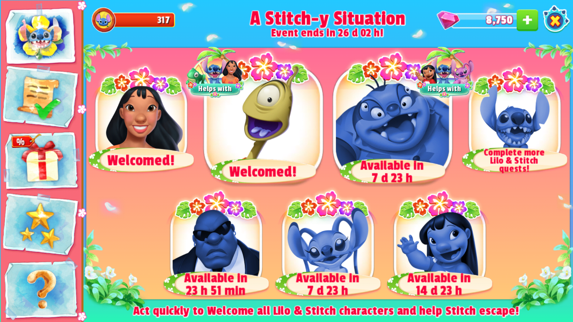 Disney Magic Kingdoms A Stitch Y Situation Characters